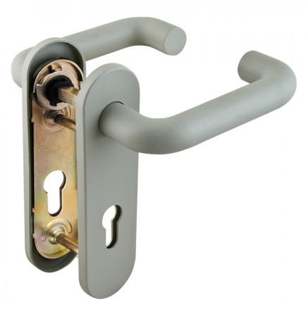 Ручка дверная Fuaro (Фуаро) DH-0433/GR NE (СЕРАЯ) с пружиной для замка (FL-0432, 0433, 0434), НЕЙЛОН