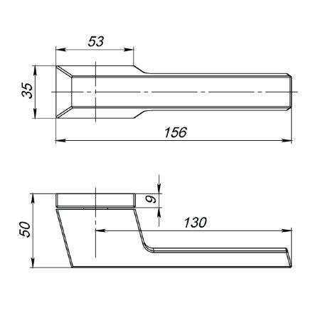 Ручка раздельная BRICK UCS SN-3 Матовый никель