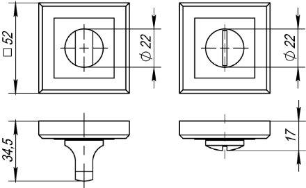 Ручка поворотная PUNTO BK6 QL GR/CP-23 графит/хром
