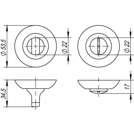 Ручка поворотная BK6 TL GR-23 графит