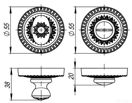 WC-BOLT BK6/CL-AS-9 Античное серебро