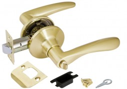 Ручка Punto (Пунто) защелка 6020 SB-B (фик.) мат. золото