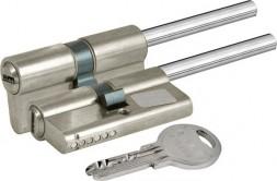 Цилиндровый механизм Kale kilit (Кале килит) под вертушку (дл.шток) 164 SX/91 (55+10+26) mm никель 5 кл.