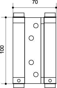 Петля барная DAS SS 201-4 CP Хром