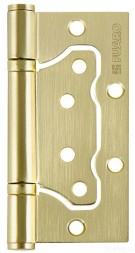 Петля универсальная без врезки 500-2BB/BL 100x2,5 SB (мат. золото) БЛИСТЕР Fuaro