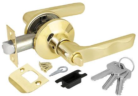 Ручка Punto (Пунто) защелка 6024 PB-E (кл./фик.) золото