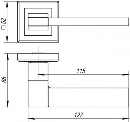 Ручка раздельная PUNTO TECH QL GR/CP-23 графит/хром