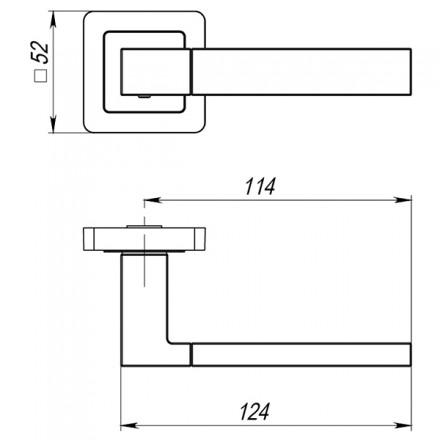 Ручка раздельная PUNTO STYLE QL GR/CP-23 графит/хром