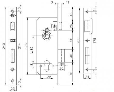 KALE 152 R (60 mm) w/b (латунь)