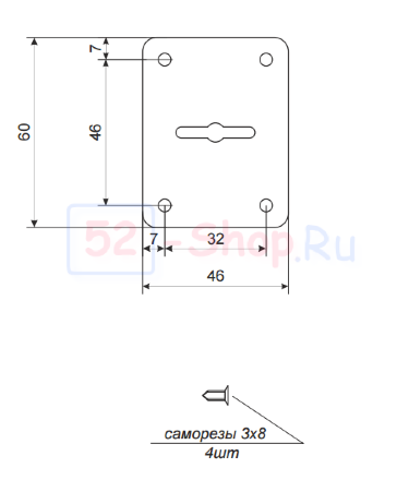 Накладка декоративная Apecs DP-S-01-CR