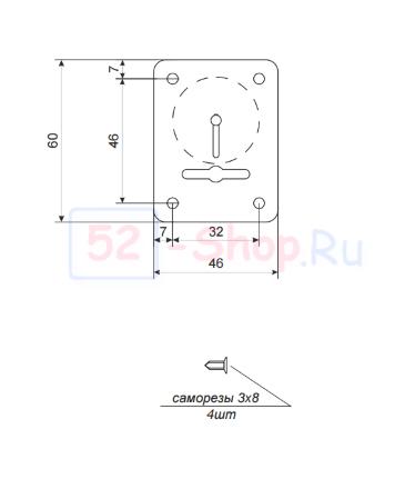Накладка декоративная Apecs DP-S-01-CR-shutter