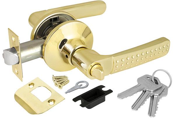 Ручка Punto (Пунто) защелка 6026 PB-E (кл./фик.) золото