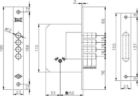 KALE 189/4MF (52 mm) (латунь) 5 кл.