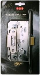 B01102.50.06.567 Замок межкомнатный WC (никель) MEDIANA EV. (инд.упак+B01000.13)