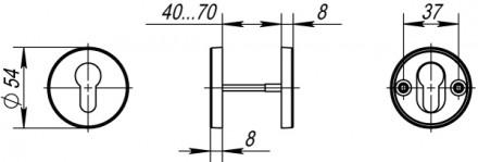 Накладка под цилиндр DSS-02-ET (нержавейка)