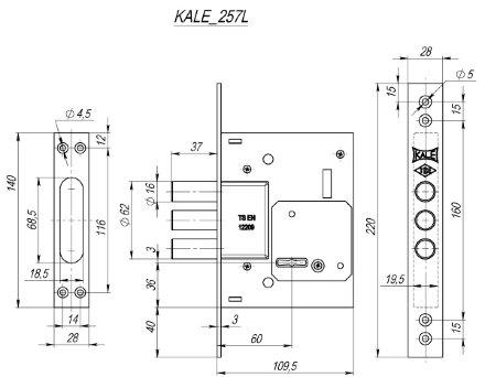 KALE 257/L никель 5 кл.