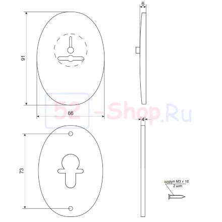 Накладка декоративная Apecs DP-S-10-G-shutter