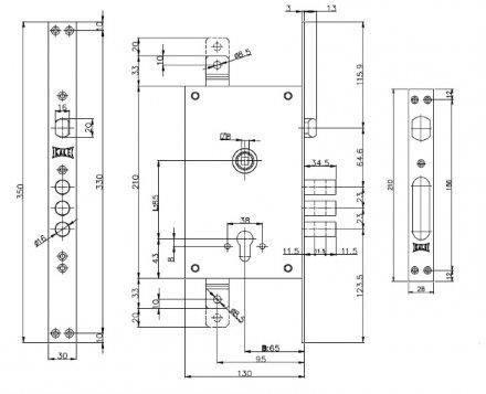 KALE 352/R w/b (никель) с крепл под тяги