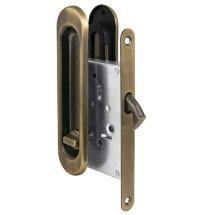Защелка Punto (Пунто) с ручками для раздвижных дверей Soft LINE SL-011 AB (бронза)