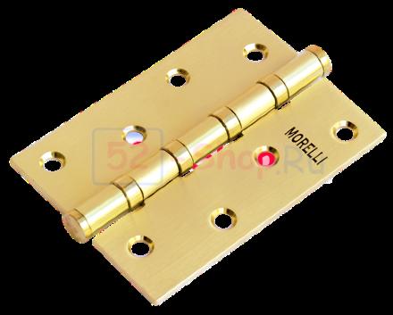 Петля Morelli стальная универсальная MS 100X70X2.5-4BB SG Матовое золото