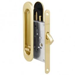 Защелка Punto (Пунто) с ручками для раздвижных дверей Soft LINE SL-011 SG (мат. золото)