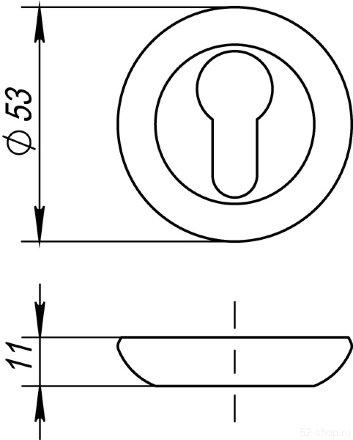 Накладка под цилиндр ET RM AC-9