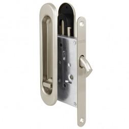 Защелка Punto (Пунто) с ручками для раздвижных дверей Soft LINE SL-011 SN (мат. никель)