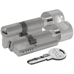 Цилиндровый механизм Kale kilit (Кале килит) с вертушкой 164 OBS SCE/90 (40+10+40) mm никель 5 кл.