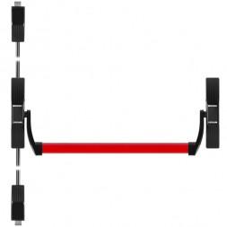 Ручка-штанга нажимная 1700С с тягами в комплекте для двухстворчатых дверей
