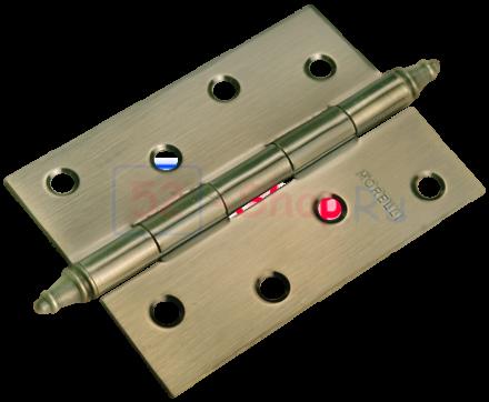 Петля Morelli стальная универсальная с короной MS 100X70X2.5-U AB Античная бронза