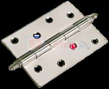 Петля Morelli стальная универсальная с короной MS 100X70X2.5-U SN Белый никель