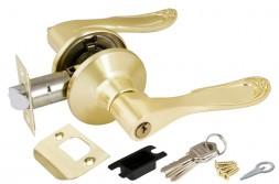 Ручка Punto (Пунто) защелка 6030 SB-E (кл./фик.) мат. золото