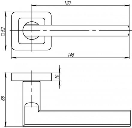 Ручка раздельная PUNTO PLUTON QR GR/CP-23 графит/хром