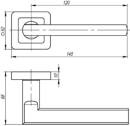 Ручка раздельная PUNTO PLUTON QR SN/CP-3 матовый никель/хром