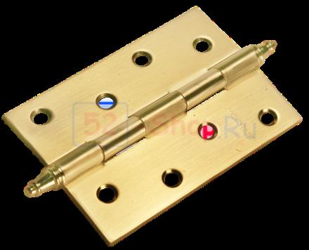 Петля Morelli стальная универсальная с короной MS 100X70X2.5-U SG Матовое золото