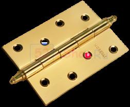 Петля Morelli стальная универсальная с короной MS 100X70X2.5-U PG Золото