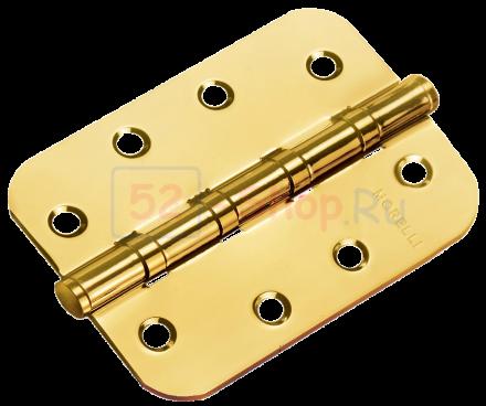 Петля Morelli стальная универсальная скругленная MS-C 100X70X2.5-4BB SG Матовое золото