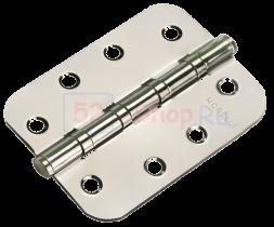 Петля Morelli стальная универсальная скругленная MS-C 100X70X2.5-4BB SN Белый никель