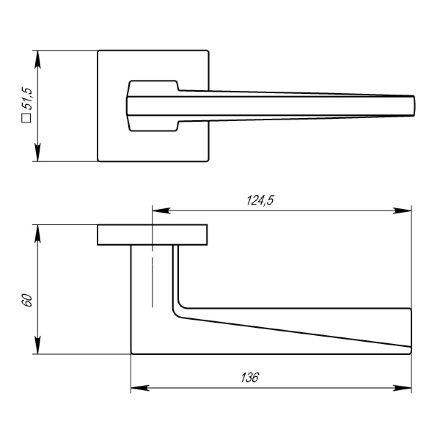 Ручка раздельная MORI USS BPVD-77 Вороненый никель