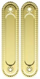 Ручки для раздвижной двери ARMADILLO SH010/CL GOLD-24 Золото 24К
