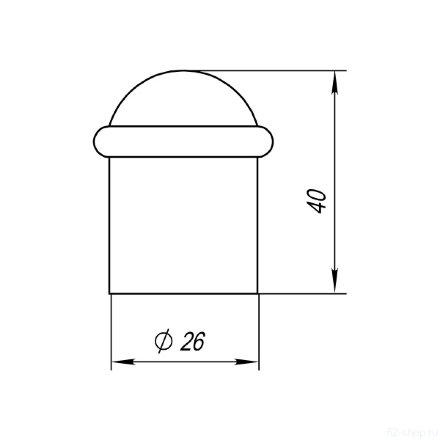 Упор дверной DS PF-26 CP-8 хром