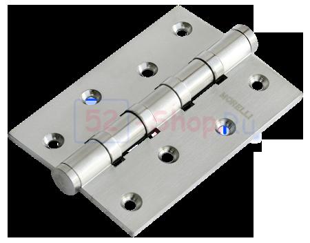 Петля Morelli латунная универсальная MBU 100X70X3-4BB SN Белый никель