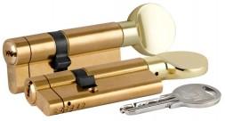 Цилиндровый механизм Kale kilit (Кале килит) со звуковой сигнализацией c вертушкой 164 AS/85 (35+10+40) mm латунь 5 кл.
