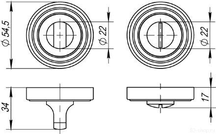 Ручка поворотная PUNTO BK6 ML ABG-6 зеленая бронза