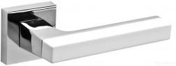 Ручка раздельная FUARO FLASH DM CP/WH-19 хром/белый