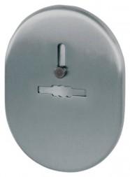 Декоративная накладка ESC 476 SN МАТ НИКЕЛЬ на сувальдный замок с шторкой