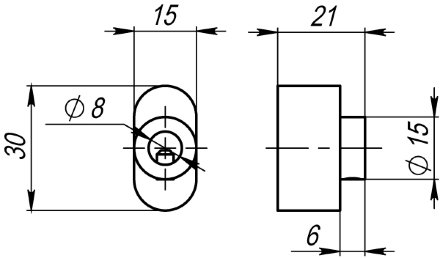 Вертушка Armadillo (Армадилло) на цилиндр CB-S-CP-8 хром