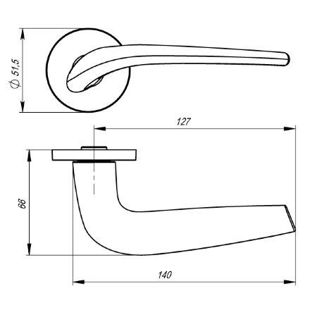 Ручка раздельная TWIN URS SN-3 Матовый никель