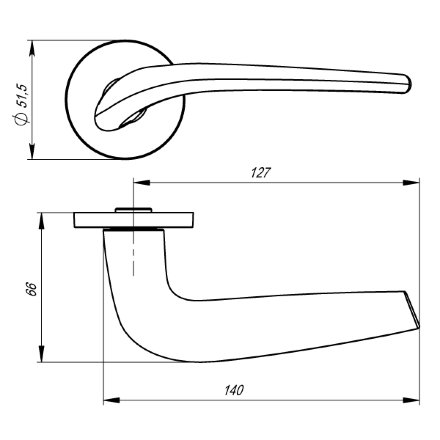 Ручка раздельная TWIN URS BL-26 Черный
