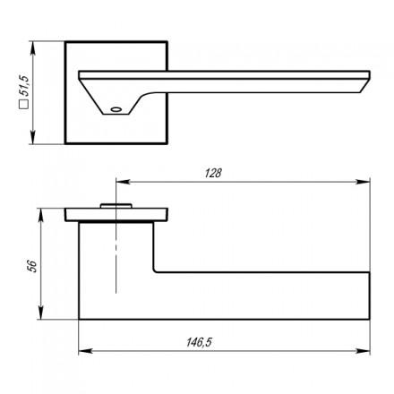 Ручка раздельная MIRAGE USS BPVD-77 Вороненый никель